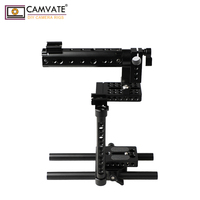 CAMVATE DSLR Camera Cage Rig With 2 Shoe Mounts And Double Rods C1920