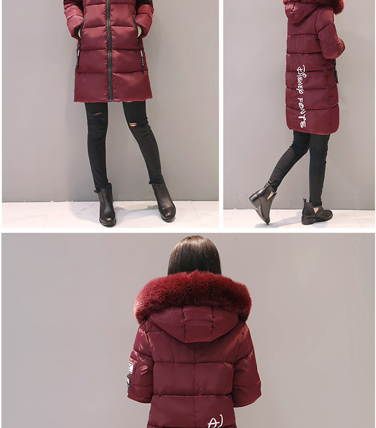 Parka Women Winter Coats Long Cotton Casual Fur Hooded Jackets Women Thick Warm Winter Parkas Female Overcoat Coat 19 MLD1268 15