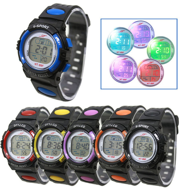 Children Students Watch Boy Girl Alarm Date Digital Multifunction Sport LED Ligh