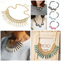 2016 New Fashion Choker Vintage Bib Statement Necklaces & Pendants Women Jewelry Collier Femme Gift Flowers Necklaces