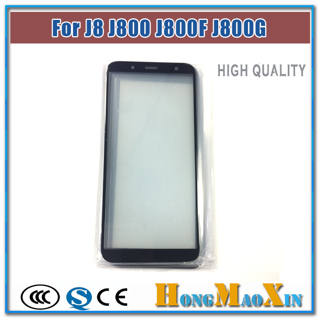 US $5 5 |1pcs Best LCD Front Outer Glass For Samsung Galaxy J8 J800 J800F  J800G Broken Touch Screen Lens Replacement Repairing-in Phone Screen