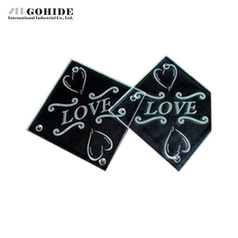 ₩DUH Multiple Shape Glass Photo Frame Coasters Fashion Wedding Gifts ...