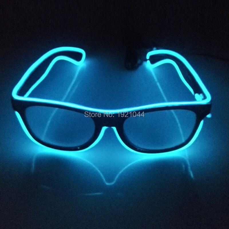 10 Цвета выбор, 50 шт в наборе, мигающий на проводе светодиодные очки неоновая светящаяся веревка световой вечерние Освещение красочные светящиеся подарок для вечерние Декор