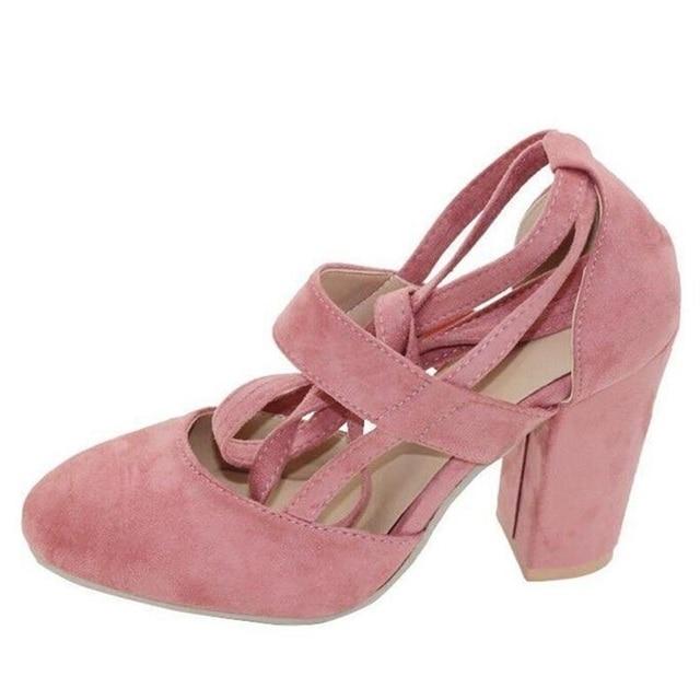 Sexy Gladiator High Heels 8CM Women Pumps Wedding Dress Shoes Woman Valentine Stiletto High Heels Shoes 5