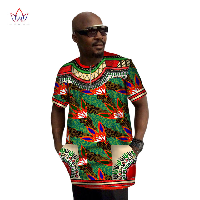 Mens African Clothing African Print Wax Dashiki Men t Shirt Plus Size  African Clothing Brand Clothing dc26d89322f9