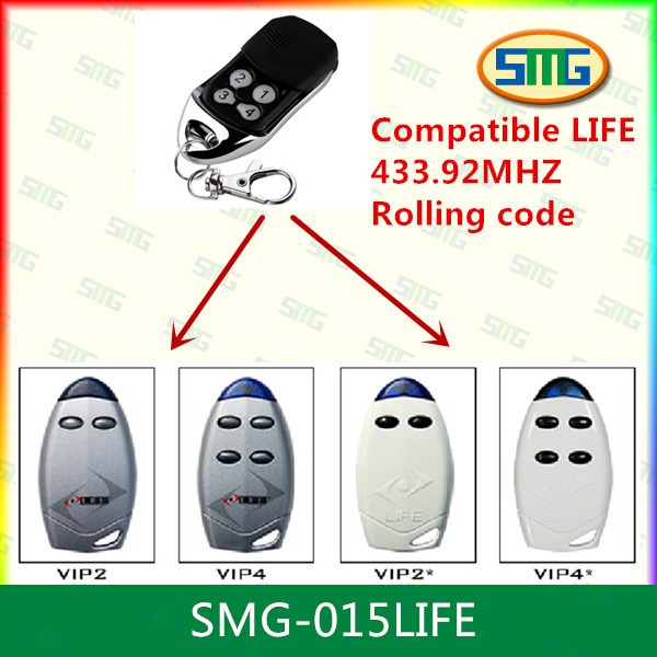 Compatible Life 43392mhz Garage Door Remote Control Transmitter In