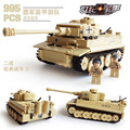 New Tank Series WW2 Germany the Panzerkampfwagen VI Ausf. E Tiger I model Building Block Classic toy Compatible with Star Wars