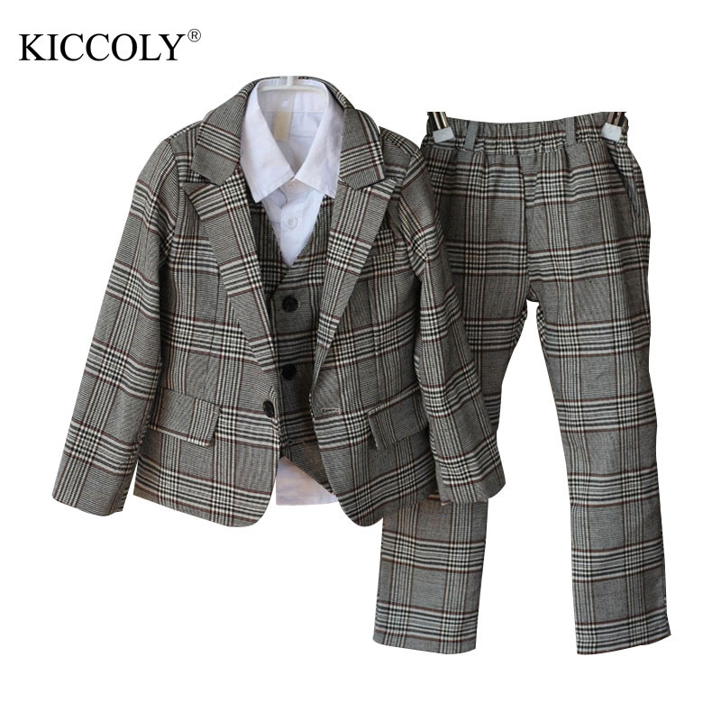 Hot 2017 Top Quality Boys Grey Blazer 3 pcs/set Wedding Suits for Boy Formal Dress Suit Prom Suits Toddler Boys Blazers hot sale top quality baby boys spring autumn casual blazers jacket wedding suits for boy formal children clothing kids prom suit