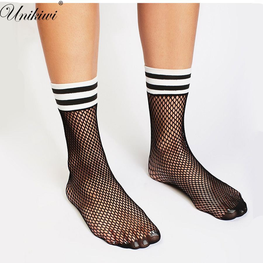 tout neuf d410d 45983 € 1.34 |UNIKIWI. Chic femmes Harajuku noir respirant maille résille  chaussettes. Sexy évider rayures filets chaussettes dames talons hauts  Sox-in ...