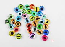 random 10--25mm 22colors for Choice All In Pairs Dragon Eyes Round Glass Cabochon Finding Cameo Pendant Settings 10pcs/lOT(China)