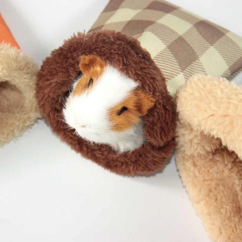 Pequeñas jaulas cálidas de invierno para mascotas suministros suave cómodo saco de dormir para hámster conejillo de indias