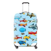 Dispalang coloré avion bagages housse de protection de haute qualité mignon de bande dessinée avions étanche voyage valise couvre détail