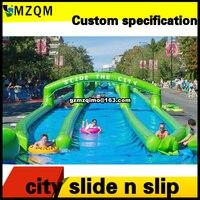 free air shipping long inflatable slide n slip, durable inflatable water slide pool, custom make inflatable slide sheet supplier