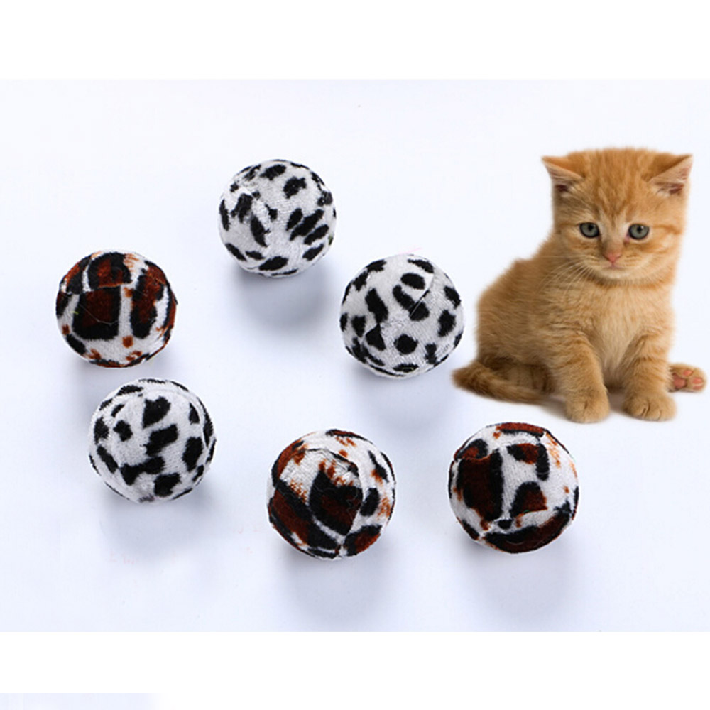 10pcs/pack Ball Cat Toy Interactive Cat Toys Play Chewing Rattle Scratch Catch Pet Kitten Cat Exrecise Toy Soft 3.5cm Balls