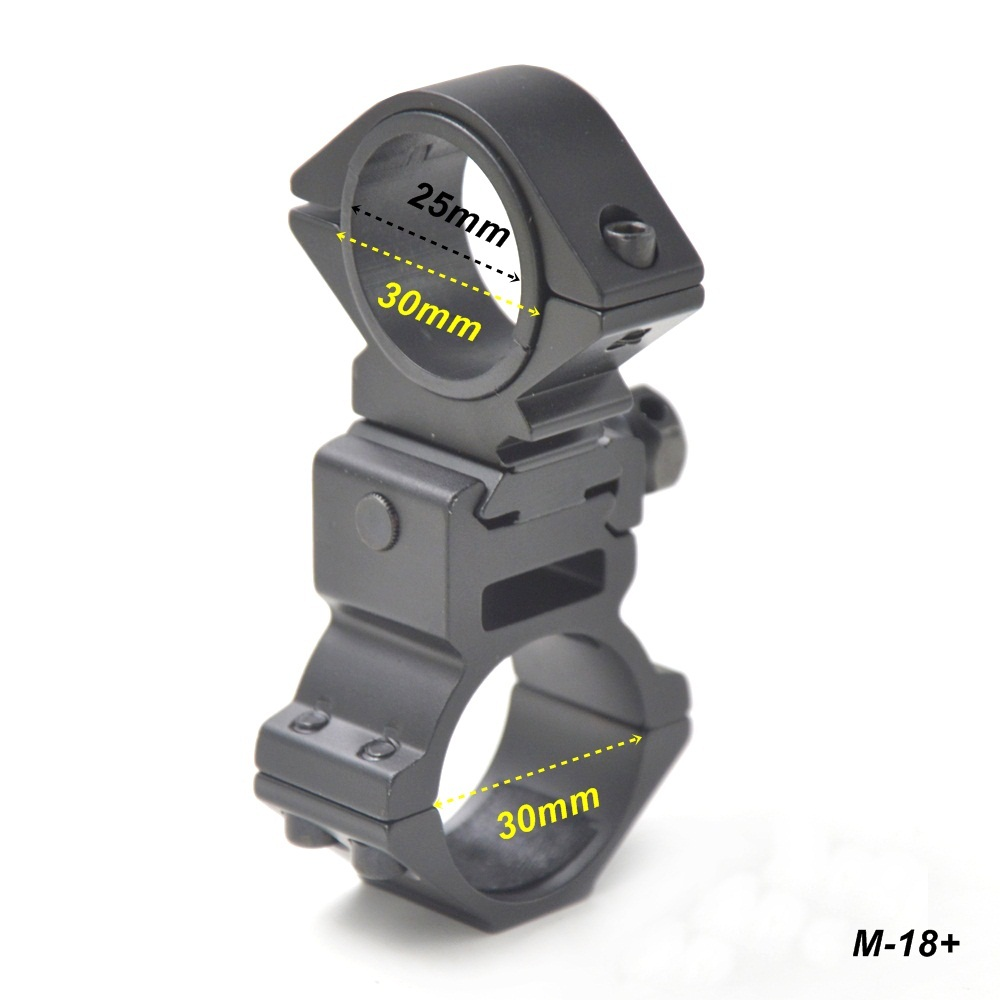 AloneFire Hunting 30mm Scope Mount Rifle Laser Torch Rings Bike Bicycle Light Torch Flashlight Clip Mount Bracket Holder alonefire cycling grip mount bike clamp clip bicycle flashlight led torch light holder plastic clip flashlight holder