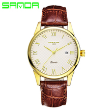 New SANDA Quartz Watch Lovers Watches Women Men Dress Watches Leather Dress Wristwatches Fashion Casual Watches hot sales gogoey brand pair watches men women lovers couples fashion dress quartz wristwatches 6699