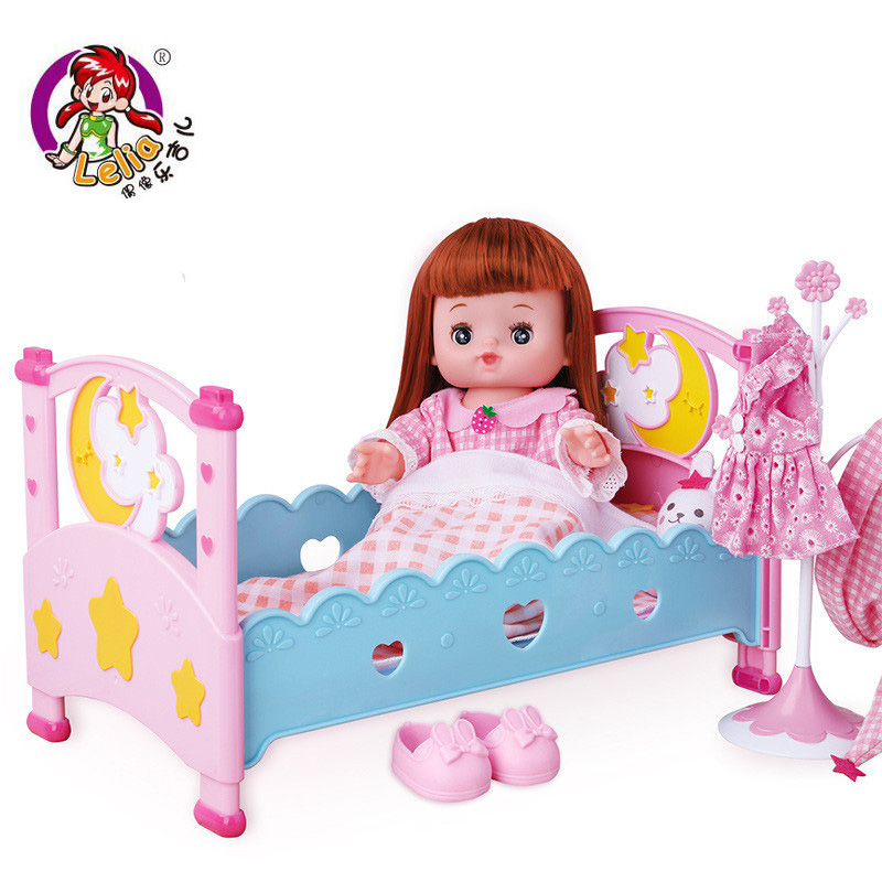 Lelia kawaii fun toy pretend play baby Toys reborn baby dolls combination doll suit Gift Box for girls Children Birthday Gifts little cute flocking doll toys kawaii mini cats decoration toys for girls little exquisite dolls best christmas gifts for girls