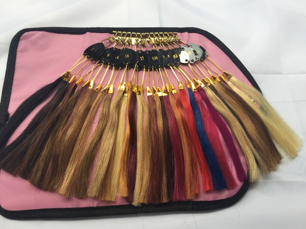 100% Virgin Human Hair Color Ring/Color Chart/Color Swatch For Hair  Extensions For Wholesale Customized Hair Orders DHL Free In Color Rings  From Hair ...