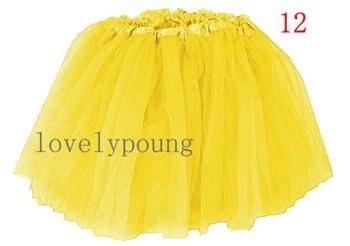 Дешевые юбка-пачка, юбка для девочки в акционной цене, девушки юбка - Цвет: yellow