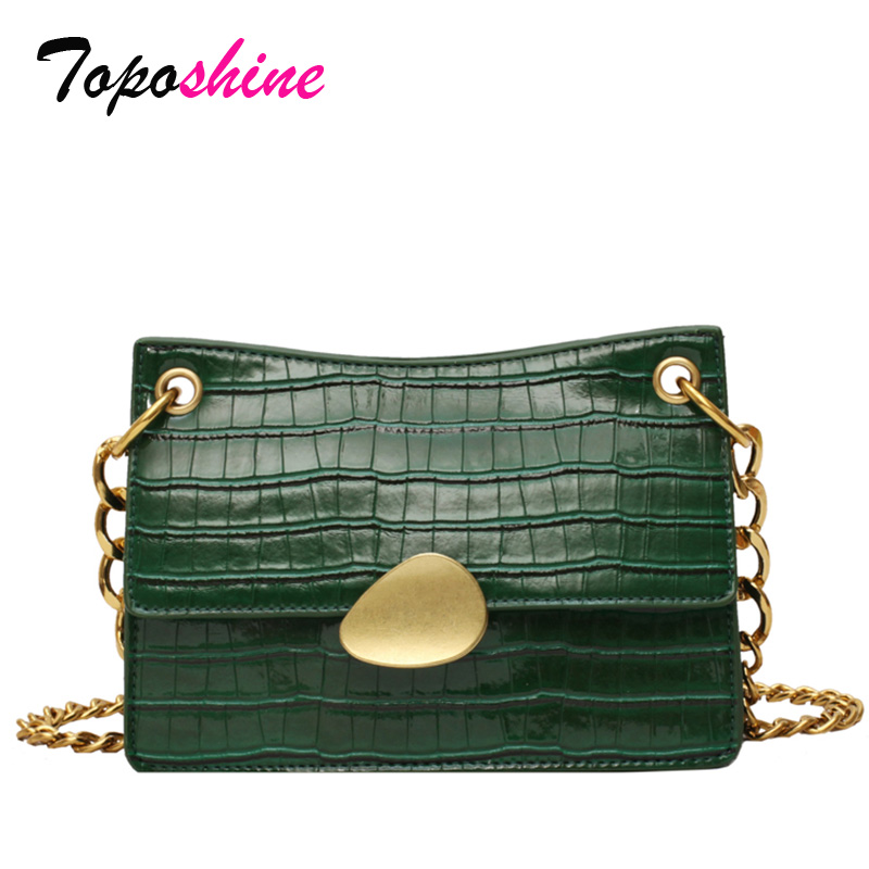 Toposhine Square Bag Shoulder-Bag Stone-Pattern Small Casual New-Fashion Ladies Luxury