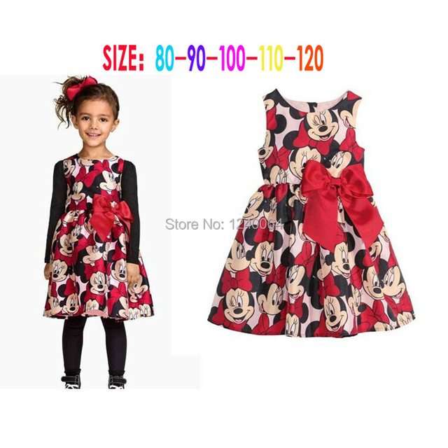 2ddec6073 Aliexpress.com   Buy 2016 New summer dress minnie dress girls ...