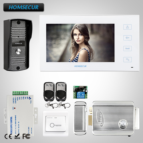 HOMSECUR 7 Wired Video Door Phone Intercom System with Metal Case :TC031 +TM704 W