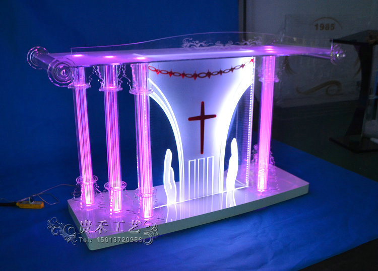 Möbel Rational Guiheyun Fabrik Preis Günstige Tragbare Acryl Glas Kanzel Für Kirche Kristall Acryl Podium 150*60*120 Cm Modern Und Elegant In Mode