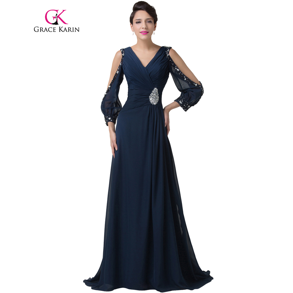 grace karin prom dress long chiffon backless elegant navy. Black Bedroom Furniture Sets. Home Design Ideas