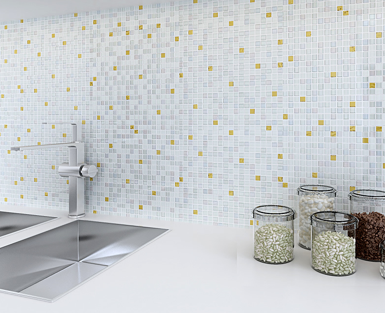 Glass mosaic tiles Kitchen backsplash tiles White Golden glass mosaic tiles for wall ,LSDJ03 home improvement marble stone mosaic tiles natural jade style kitchen backsplash art wall floor decor free shipping lsmb101