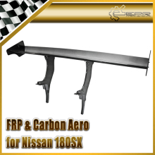 Car styling For Nissan 180SX Type A Carbon Fiber GT Spoiler Fitting on the trunk