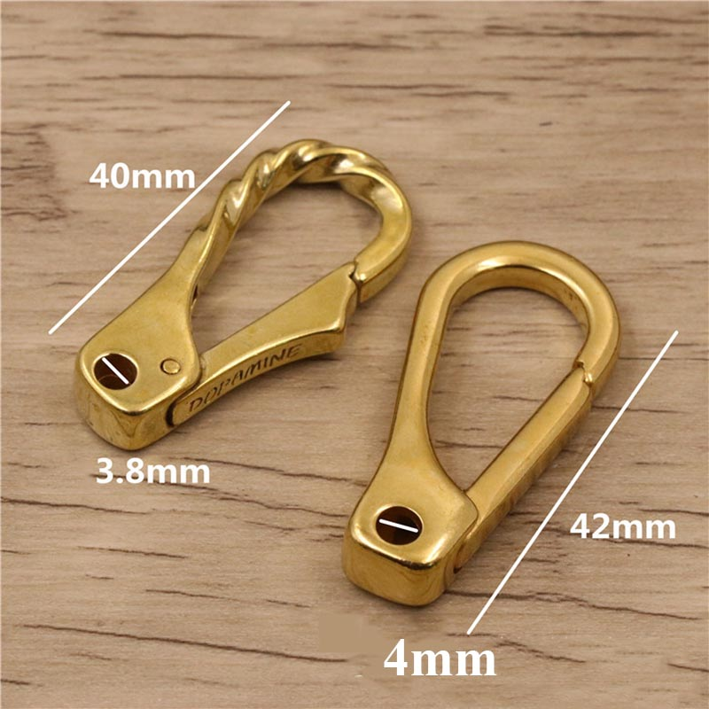 Meetee 40mm 1 2pcs Pure Copper Hook Buckle DIY Luggage Pants Backpack Keychain Bag Decoration Hardware Crafts Accessories AP076 in Buckles Hooks from Home Garden