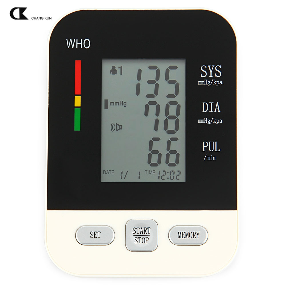 CHANGKUN Tonometer for Measuring Automatic Electric Voice Digital LCD Arm Blood Pressure Monitor Heart Beat Meter