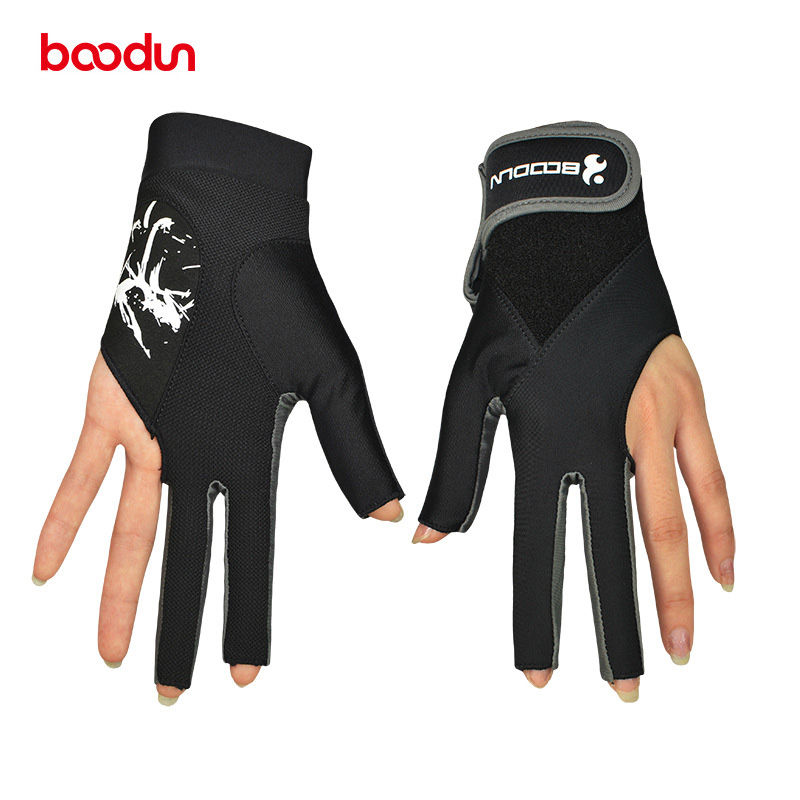 BOODUN Unisex Professional Billiard Gloves 3 Fingers Snookers Gloves Breathable Anti-slip Billiard Glove Accessories