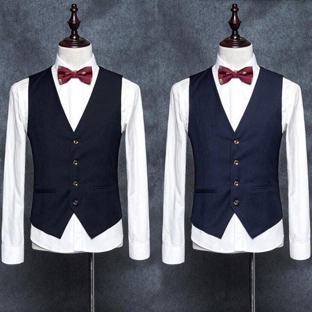 Мода новый стиль мужчины жилет пользовательские Свадьбы жених платье жилет Ручной Работы бизнес формальные костюмы Жилет Жилет