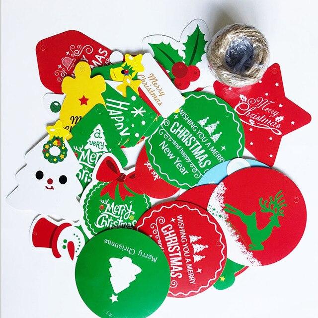 28 Pcs Santa Claus Paper Postcards Wishes Craft Kids Festival Gift