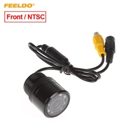 FEELDO 1Set Car Auto 28mm 170 Degree Front View Color Night Vision Car Camera With IR LED Light NTSC #FD1366