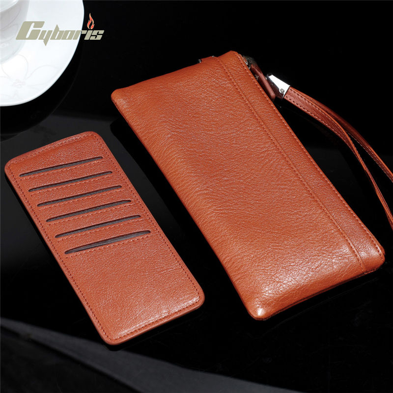 Buy CYBORIS Genuine Leather Case for Samsung Galaxy S7 / S7 Edge Wallet Purse for Samsung Galaxy S6 / S6 Edge / S5/ S4 /Note 5 /4
