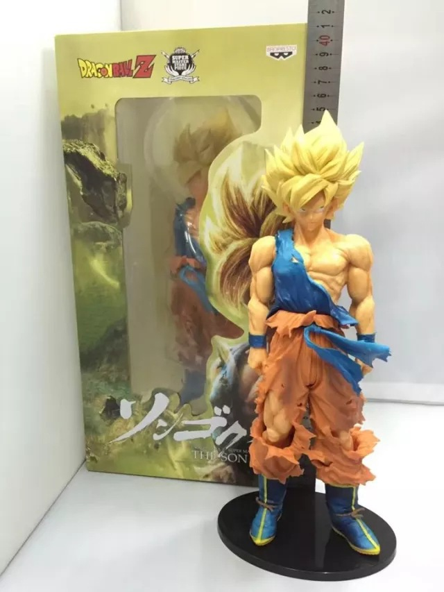 Huong Anime Figure 34 CM DragonBall Z Super SaiYan Son Goku PVC Action Figure Collectible Model Toy Doll Model anime dragon ball z son goku action figure super saiyan god blue hair goku 25cm dragonball collectible model toy doll figuras