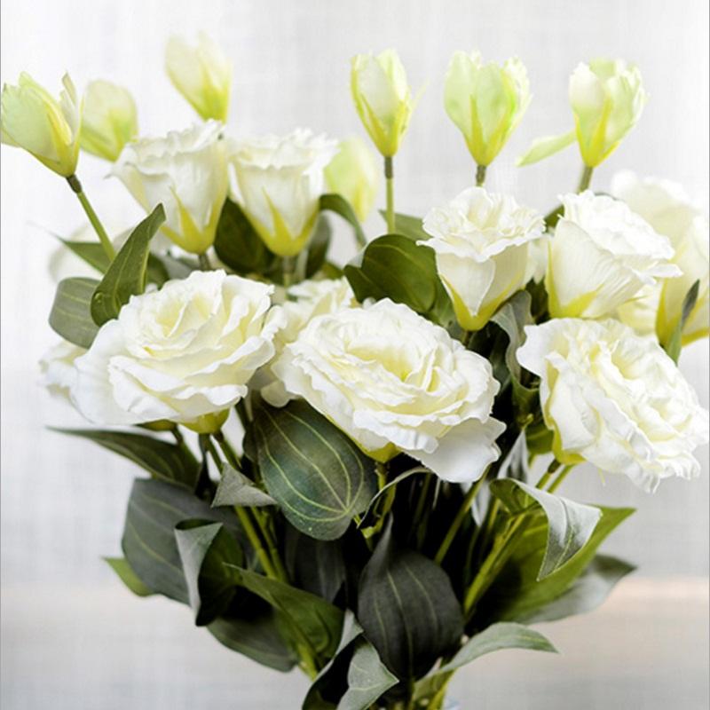 bifurcacin cm seda rosa artificial ramo de flores para la decoracin de la boda