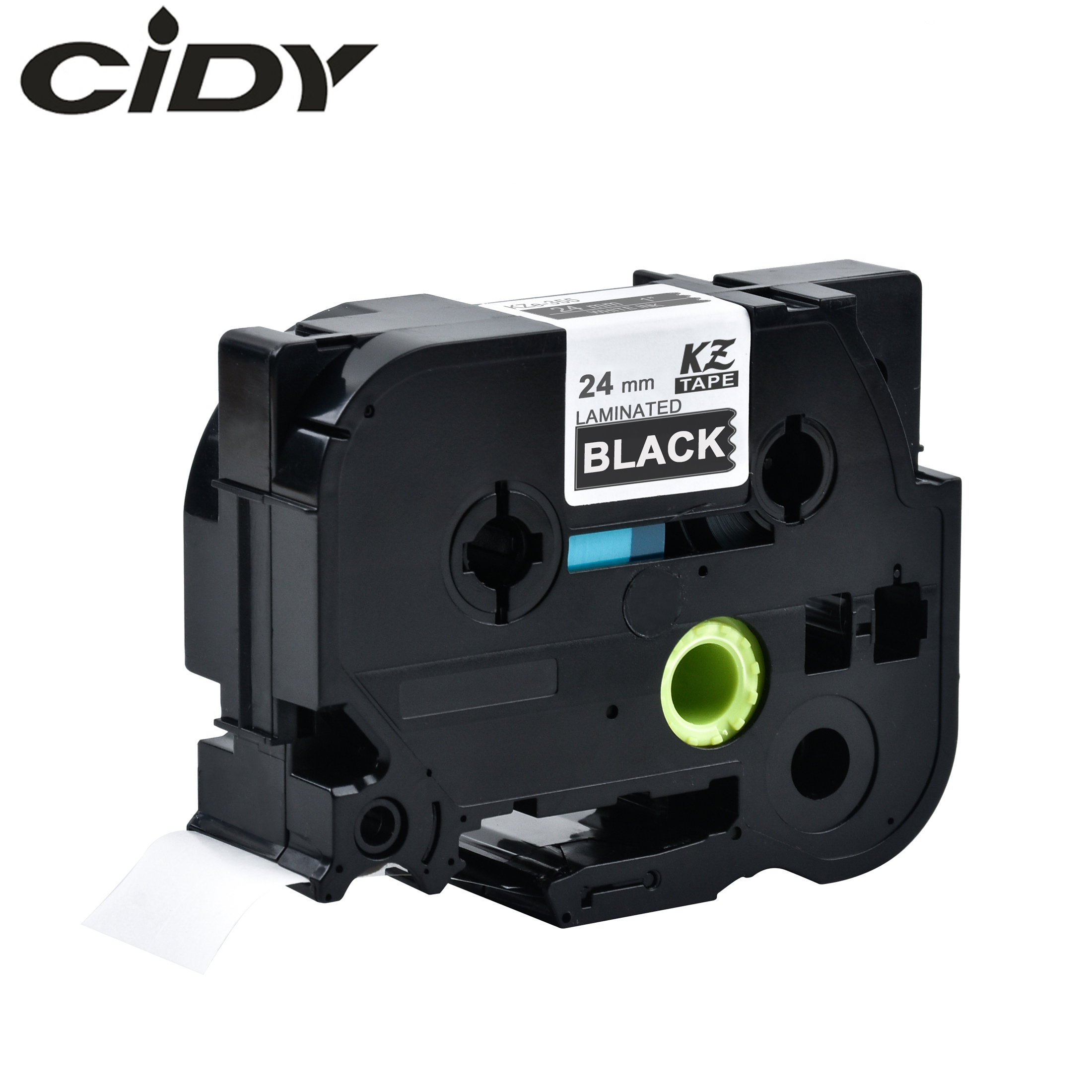 CIDY Tze 355 Tz355 24mm White On Black Laminated Tze Compatible P Touch 24mm Tze-355 Tz-355 Tze355 Label Tape Cassette Cartridge