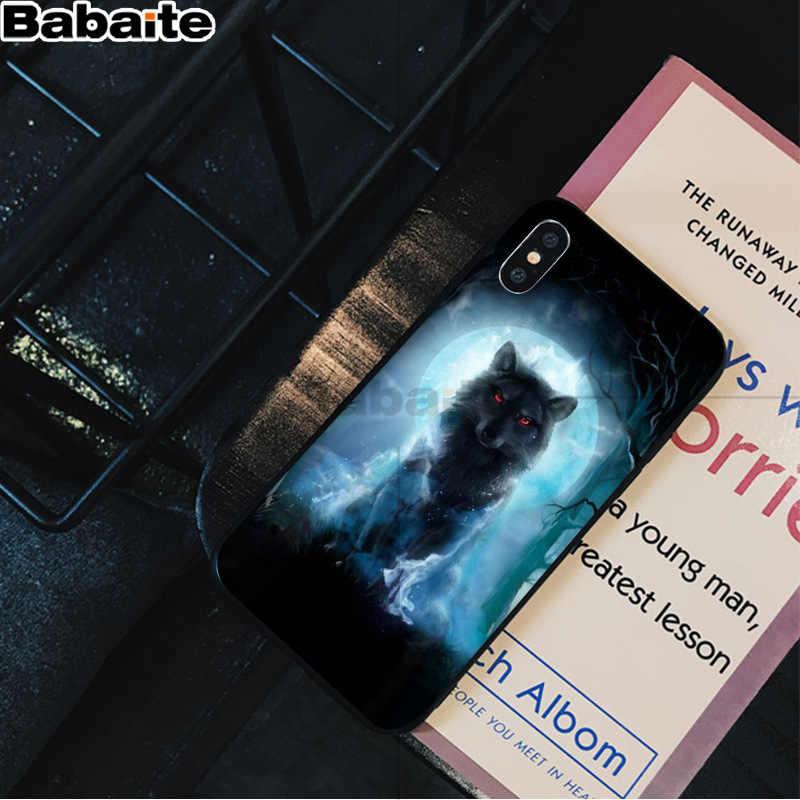 Babaite 怒っ動物ウルフフェイス高級ユニークな電話カバー iPhone X XS 最大 6 6s 7 7 プラス 8 8 プラス 5 5S 、 SE XR
