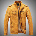 Men's PU Leather Jacket Men Fashion Brand High Quality Velvet Warm Winter Motorcycle Business Casual Mens Leather Jackets Coats