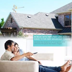 Image 2 - هوائي تلفاز رقمي عالي الدقة من Powstro لـ HDTV DVBT/DVBT2 470 MHz 860 MHz هوائي تلفاز خارجي رقمي مضخم HDTV