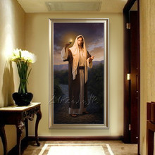 Jesus Christ portrait painting decorative spray print Giclee on canvas wall stickers home decor
