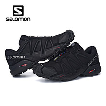 Salomon Shoes zapatos hombre Sneakers Men Black Speed Cross 4 CS III sapato masculino Speedcross Salomon Sport Fencing Shoes