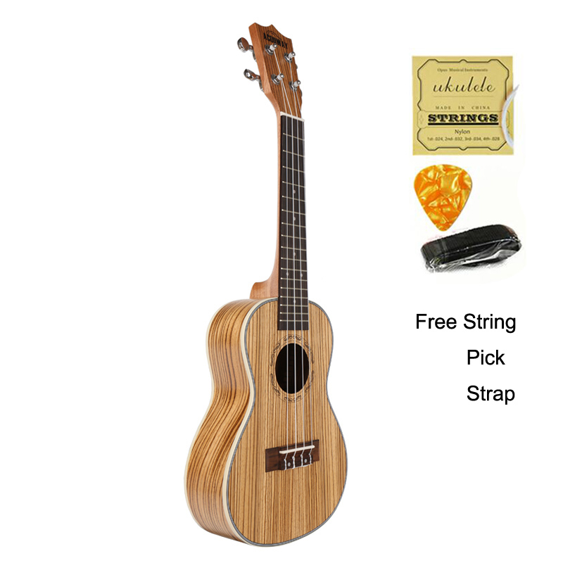 Acouway Concert Ukulele 23 inch Zebra uku Ukelele with ABS binding Hawaii guitar Stringed Musical Instrument zebra professional 24 inch sapele black concert ukulele with rosewood fingerboard for beginner 4 stringed ukulele instrument