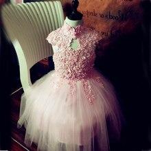 Новые Дети Платье Костюм Девушки Платье Розовый платье Принцессы туту платье костюмы