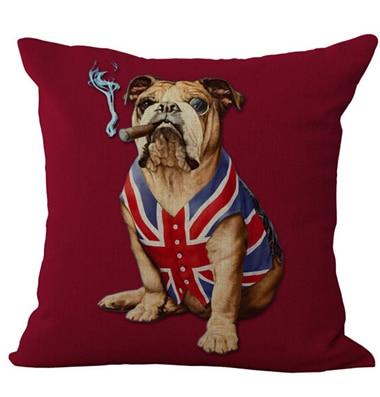 ΞPersonalidad mascota belleza bandera británica Lino algodón ...