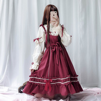 Free Top Fashion Shipping 2019 Small Dress Lolita Humanoid Division Op Off Two Jsk Condole Belt Japanese Soft Sister Skirt 1062