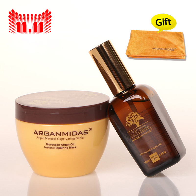 ARGAN OIL hair mask +Moroccan ARGAN OIL deep  Moisturizing repair hair free shipping